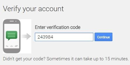 verify your account using text