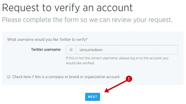 Confirm username