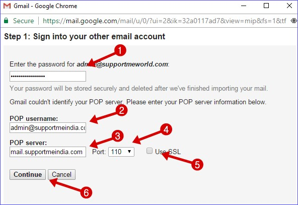 add your custom email account