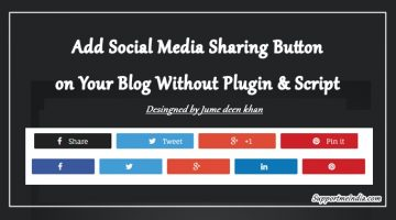 Add social media share buttons on WordPress
