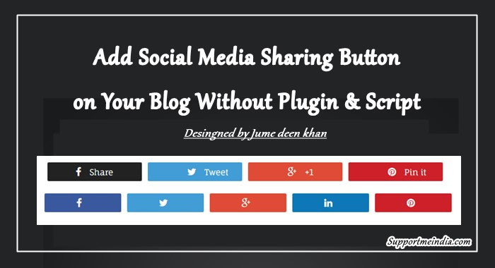 WordPress Me Social Media Share Buttons Kaise Add Kare (Without Plugin)