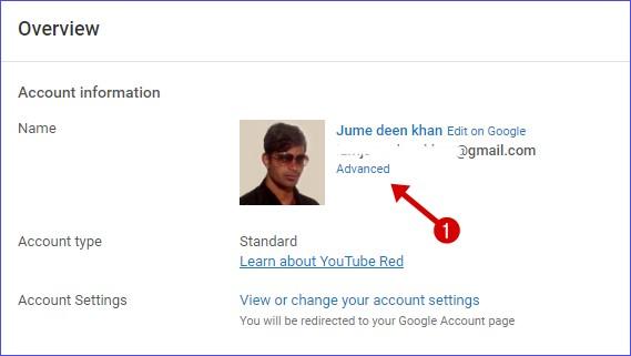 Advanced settings youtube