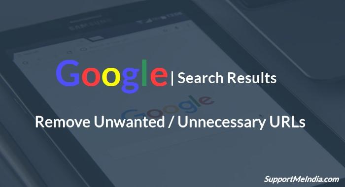 Remove Unnecessary URls from google