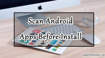 Scan android apps before install