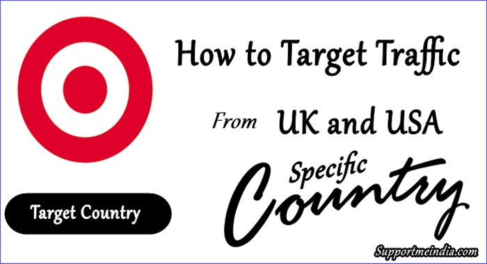 Target UK USA Specific Country Traffic