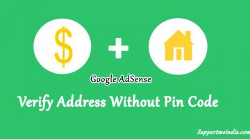 Verify address without pin code in adsense account