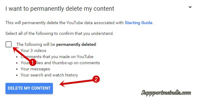 permanently delete channel
