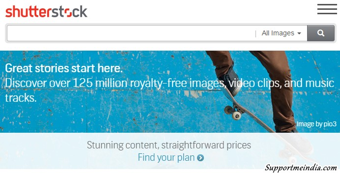 1. Shutterstock: Free Image, Video Clip & Music Tracks