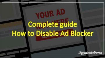 Disable Adblocker