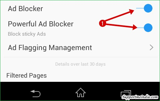 Dsiable powerful ad blocker uc browser