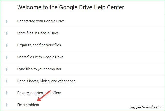 Fix google drive problem