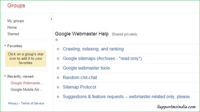 Google Webmaster Help