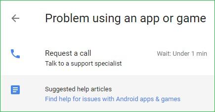 Problem using app
