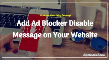Website Me Ad Blocker Disable Message Kaise Add Kare