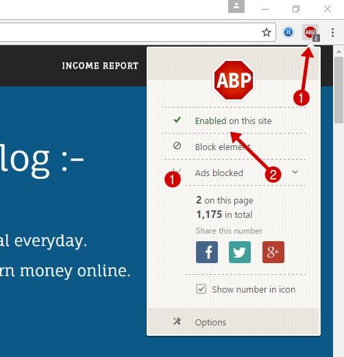 disable adblocker plus