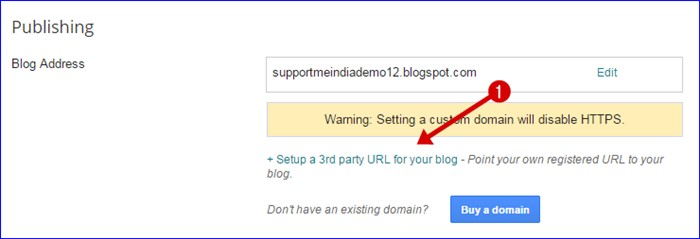 Add subdomain on blogger blog