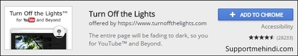 Turn off The Lights Google Chrome Extensions For YouTube