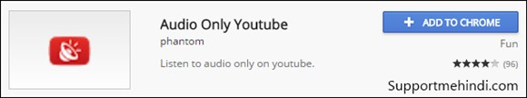 YouTube Ke Liye Audio Only Google Chrome Extensions