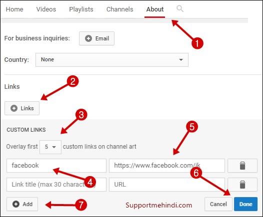 YouTube Channel Art Par Social Links Kaise Add Kare