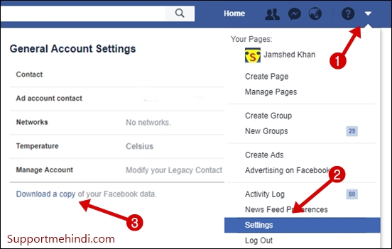 Download Your Facebook Account Data