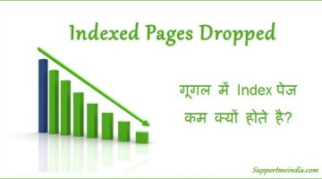 Indexed Pages Dropped