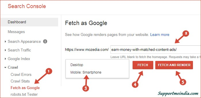 Fetch as Google Tools