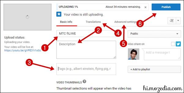 Video Uploading Settings