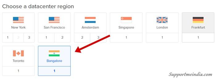 Choose a datacenter region