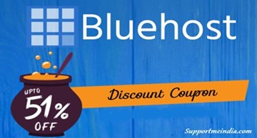Get Web Hosting with 51% Off Discount - Bluehost India