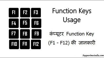 Function Keys Usage