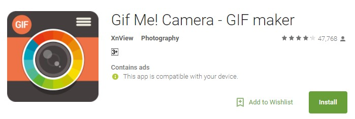 Gif Me Camera GIF maker