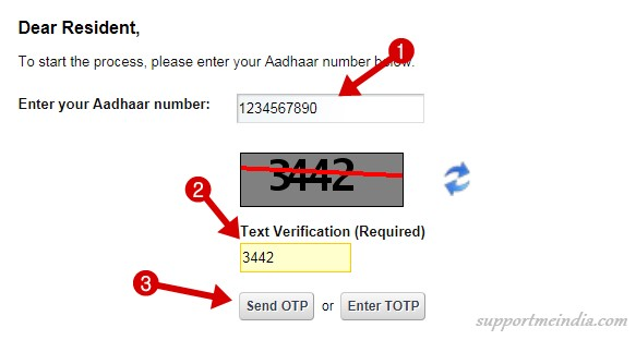 Verify mobile number aadhar card