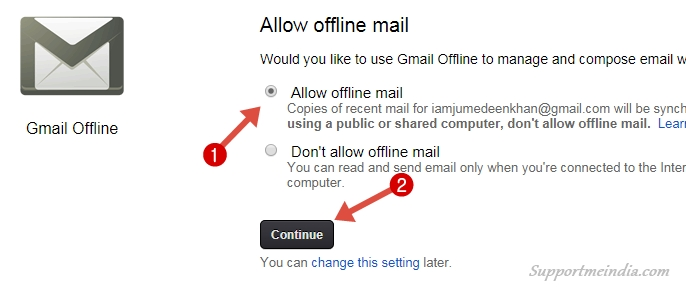 Allow Offline Gmail