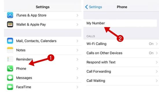 iPhone में अपना Phone Number कैसे देखें