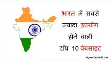 India Me Sabse Jyada Use Hone Wali 10 Websites