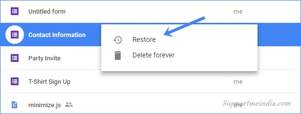 Restore Deleted File from Google Drive