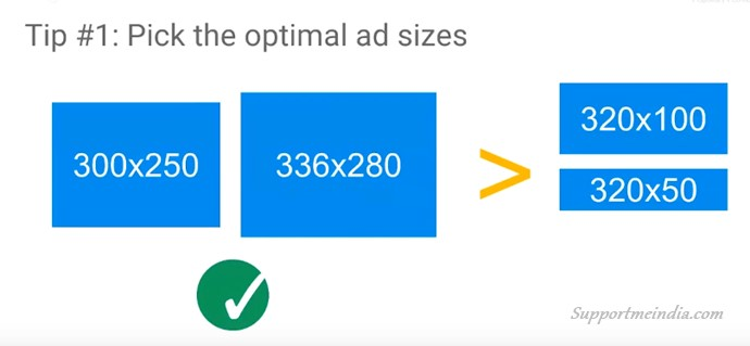 Select Optimal Ad Sizes