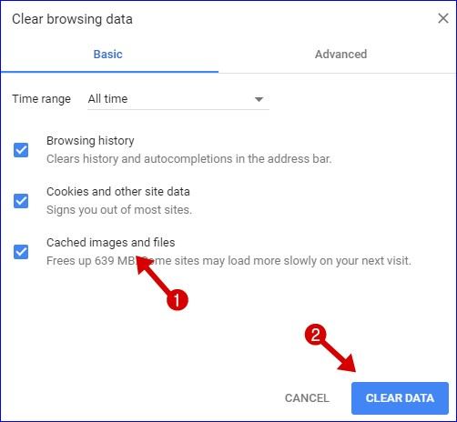 Clear Cache And Browsing Data - Make Chrome Faster