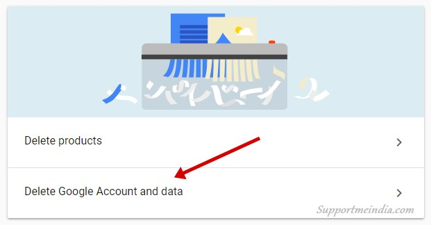 Delete Google Account and data