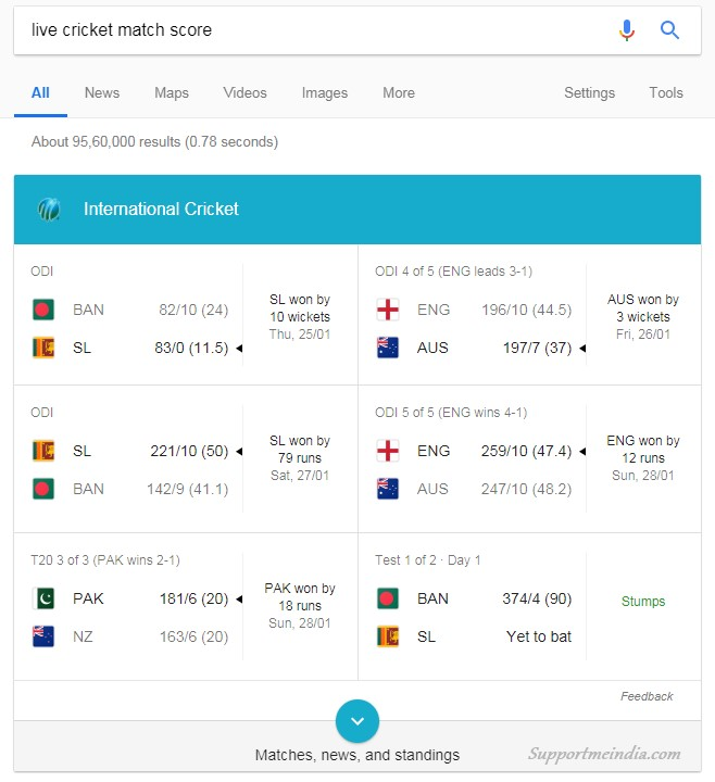 Live Cricket Match Score - Google Search