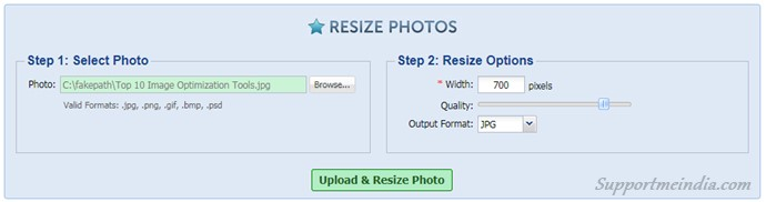 Resize Photos - Free Image Optimization Tools