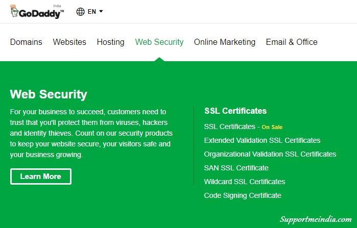 Godaddy Free SSL Certificate