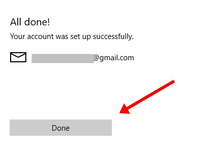 Click on don to conenct gmail to mail app