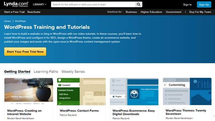 Learn WordPress with Lynda