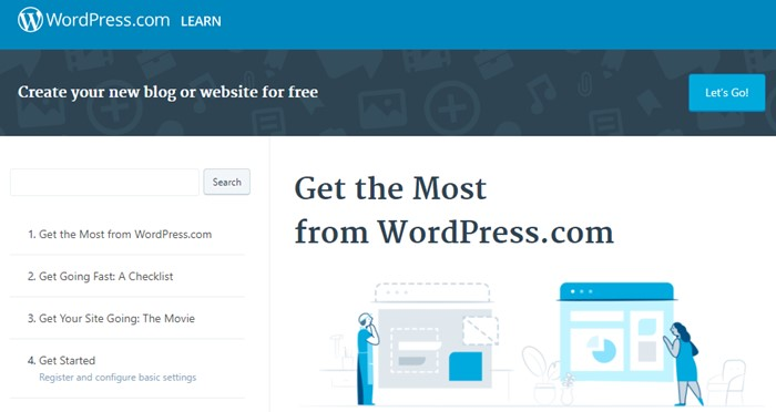 Learn WordPress with Official Site
