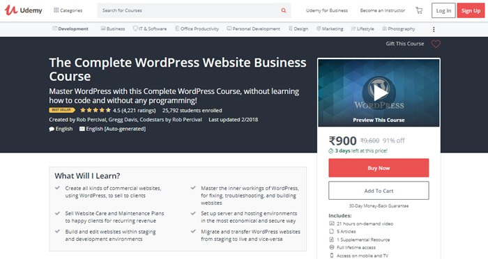 Learn WordPress with Udemy