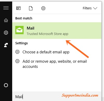 Open Mail App in Windows 10
