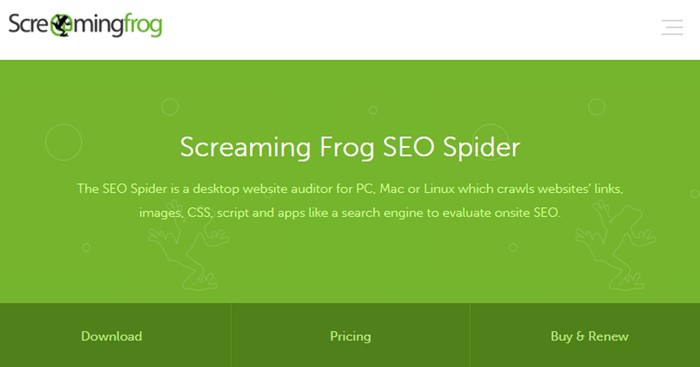 Screaming Frog SEO Tools