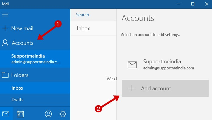 Setup Gmail on Windows 10 Mail App