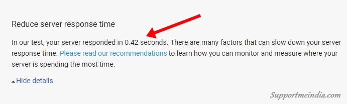 Slow server responsive time